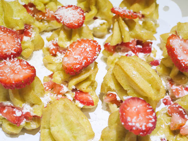 Sugar Free Strawberry Cream Puffs