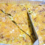 Red Onion Amp Cheddar Frittata Baking In Pink