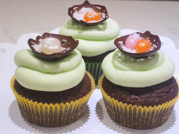 Chocolate Coconut Easter Cupcakes