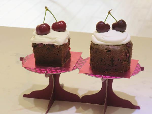 Mini Chocolate Cherry Cakes