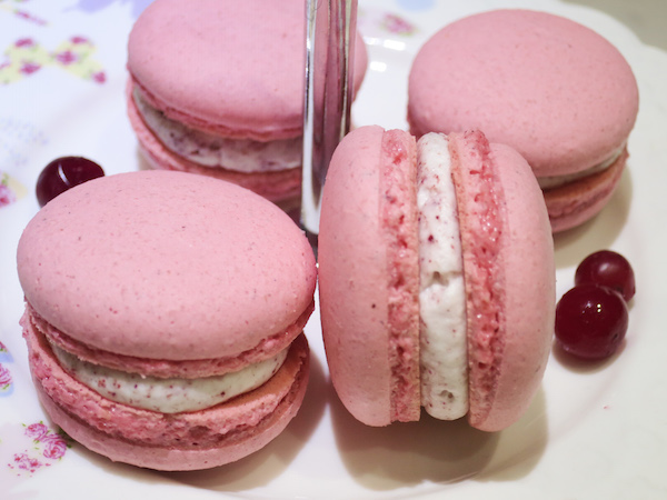 Cranberries & Cream Macarons