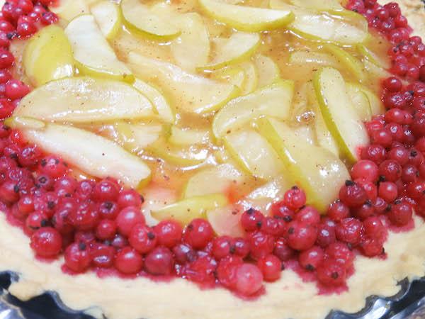 sugar free apple & redcurrant tart