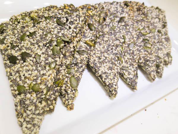 Seed crispbread