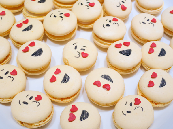 Passion Fruit Emoticon Macarons
