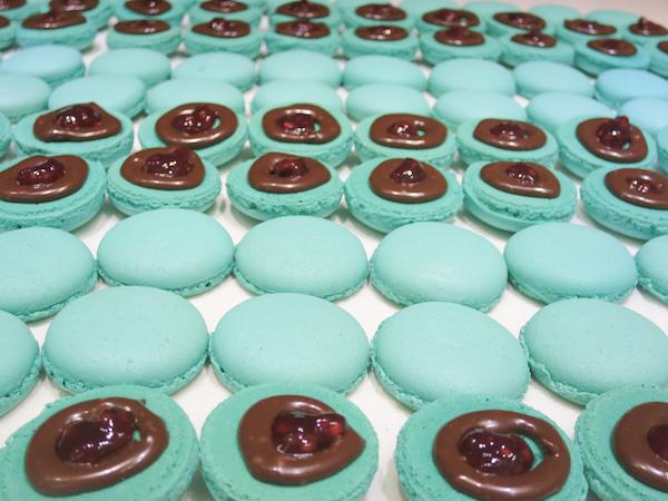 Chocolate Raspberry Macarons