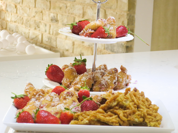 Sugar Free Coconut Strawberry Fritters
