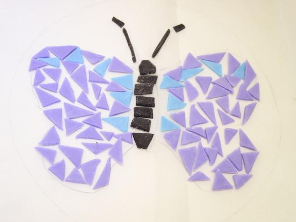 butterfly fondant mosaic