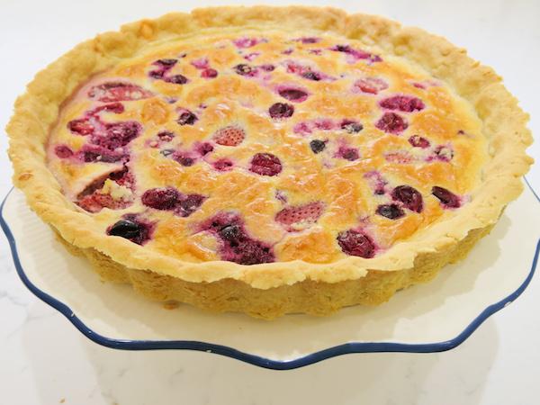 Sugar Free Berry Almond Tart