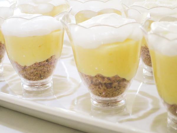 Mini sugar free lemon cream pies